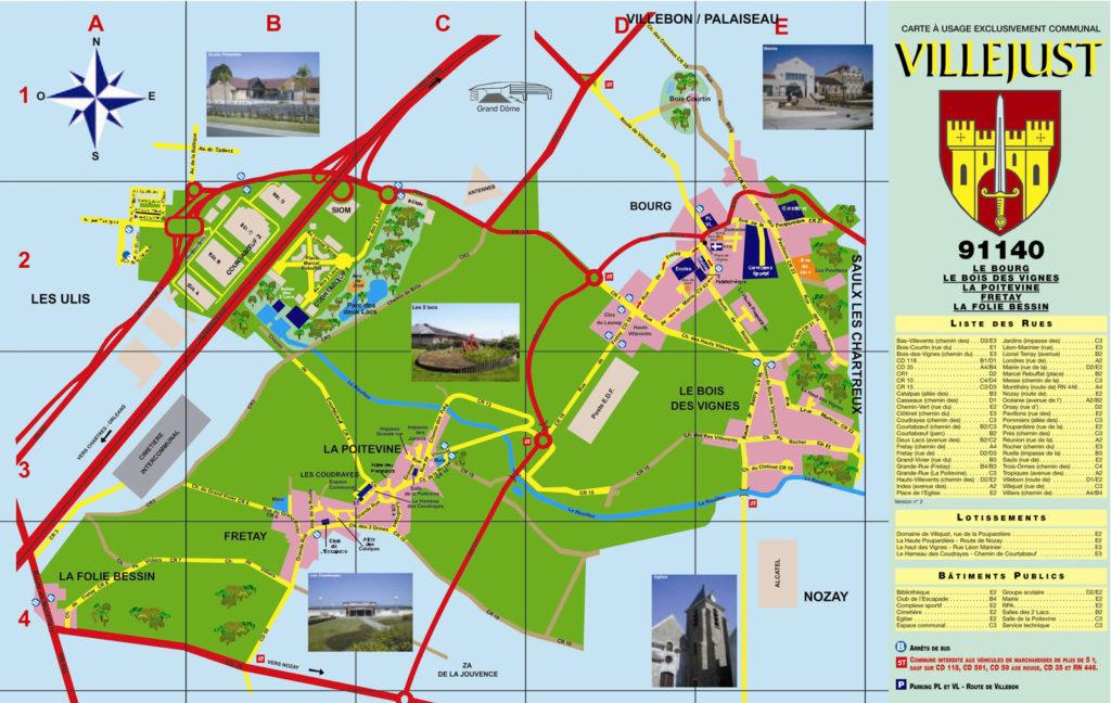 Plan de la ville de Villejust