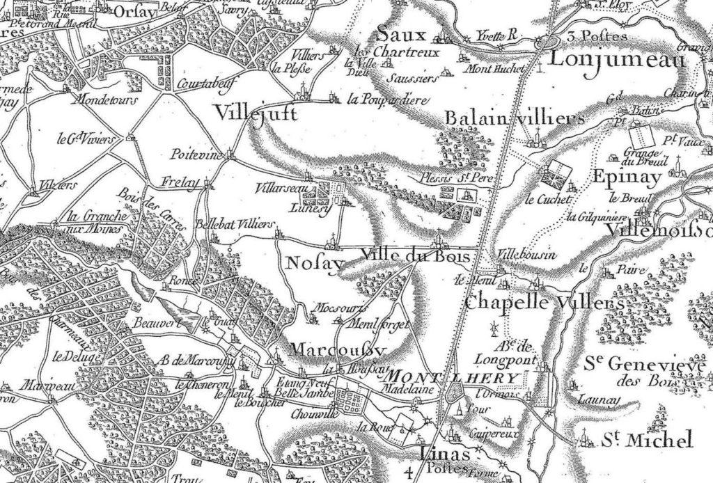 Carte de Cassini de Villejust